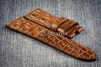 Brown genuine hornback alligator 24/22mm strap