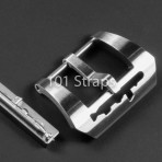 Polished 316L steel screw-in Submarine buckle with removable PIG torpedo