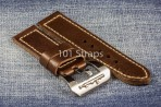 Dark brown genuine Italian calf 24/24mm strap with polished Submarine buckle