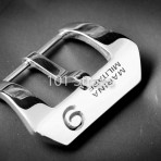 Marina Militare polished 316L steel buckle with No. 9