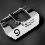 Marina Militare polished 316L steel buckle with No. 6
