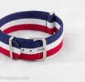 Sale!!!! Blue/White/Red NATO Band 20mm (Netherlands World Cup 2014 2nd runner-up)