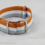 Brown/White/Grey NATO Band 20mm
