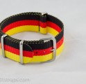 SALE!!!! Black/Red/Yellow NATO Band 20mm (Germany World Cup 2014 champ)