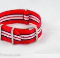 Red/Black/White NATO Band 20mm